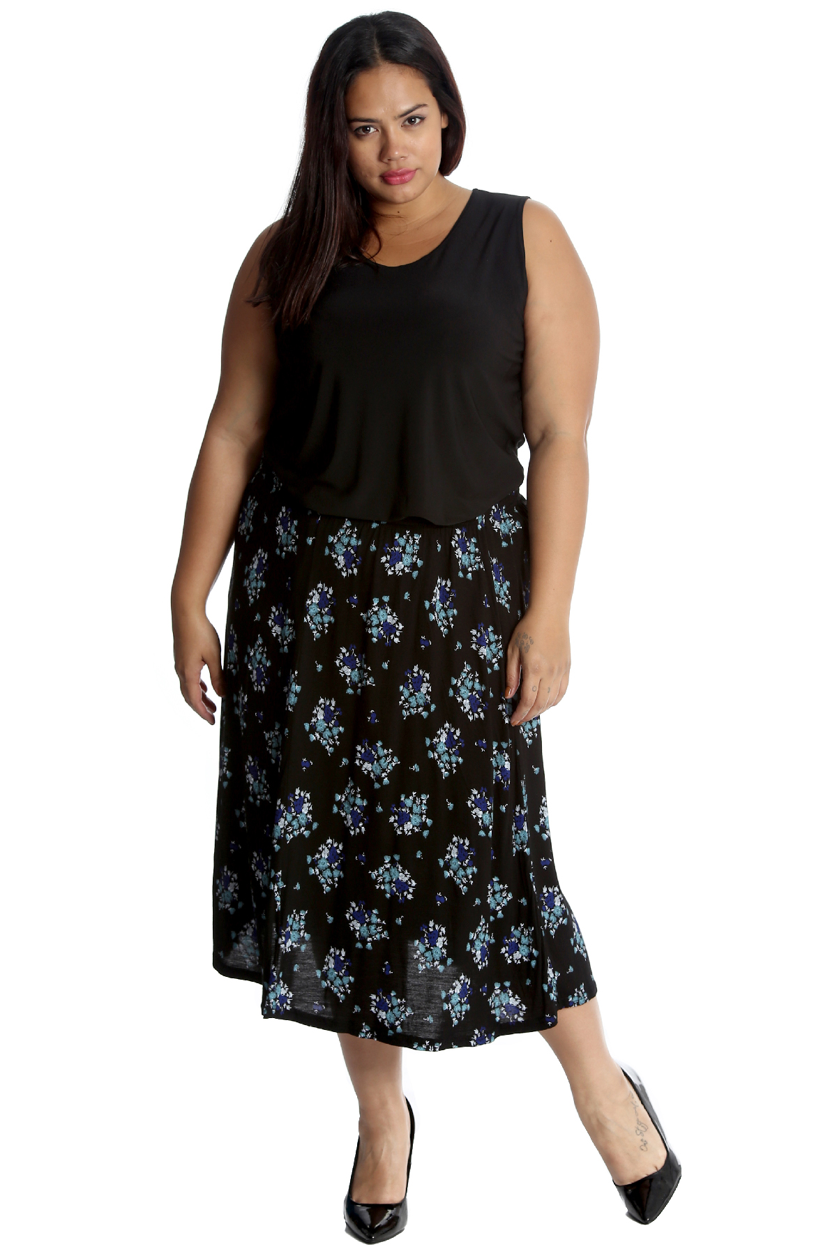 New Ladies Skirt Plus Size Womens Maxi Style Elasticated A-Line Long Nouvelle