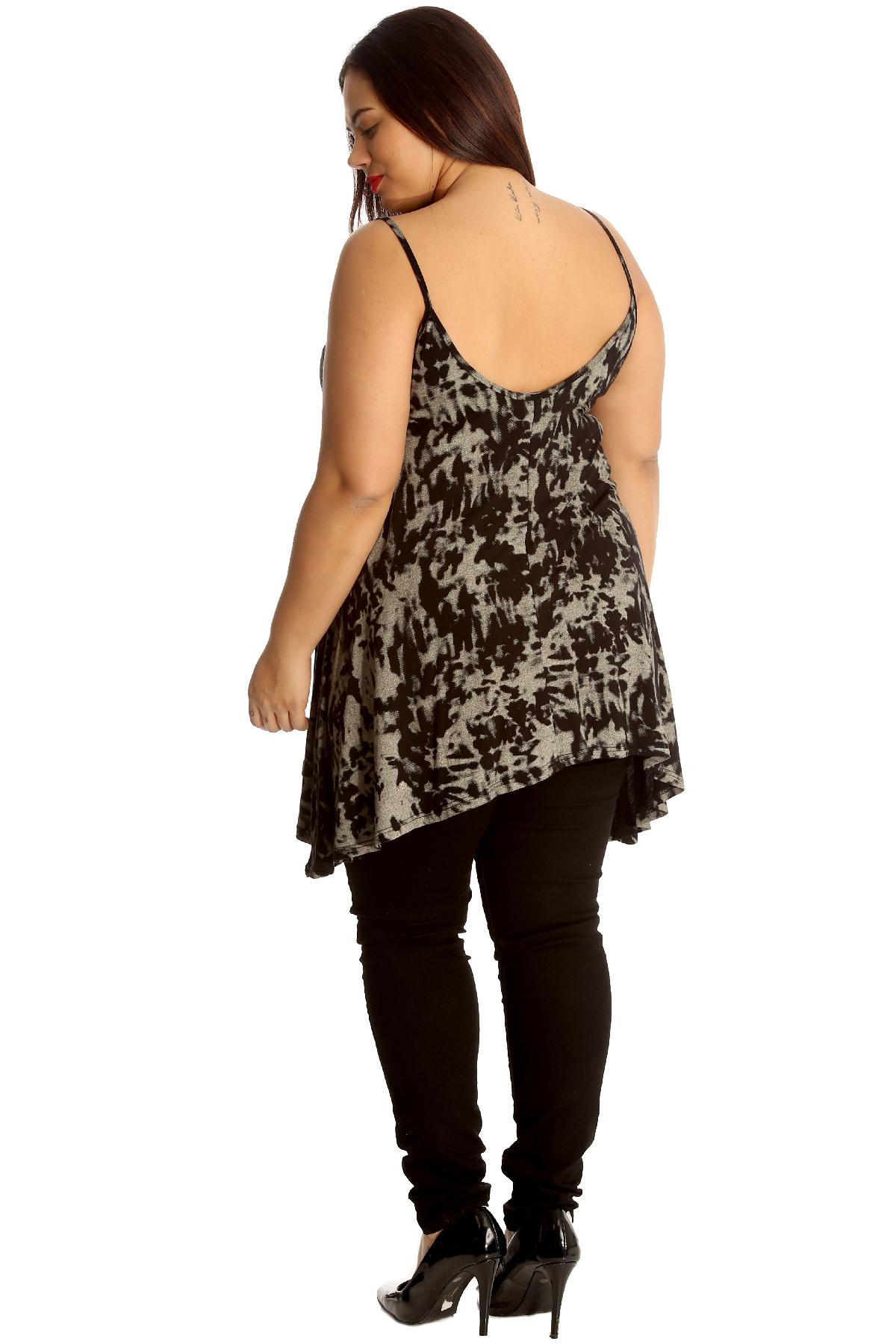 Femmes Camisole Réservoir Balançoire Haut Impression abstraite Grande Taille