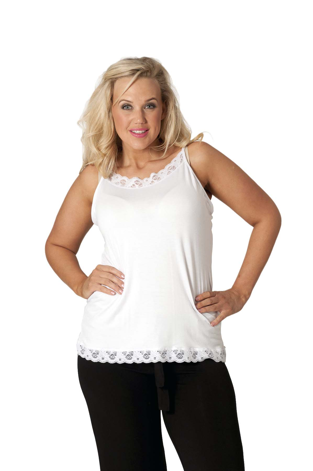 One of our favorite layering tops! Who doesn't love a little bit of lace? This chic lace cami adds a little bit of boho flare to any outfit! 3 colors available: Black, Grey, Oatmeal Sizes: XL/1XL = 12 , 1XL/2XL = 14 .