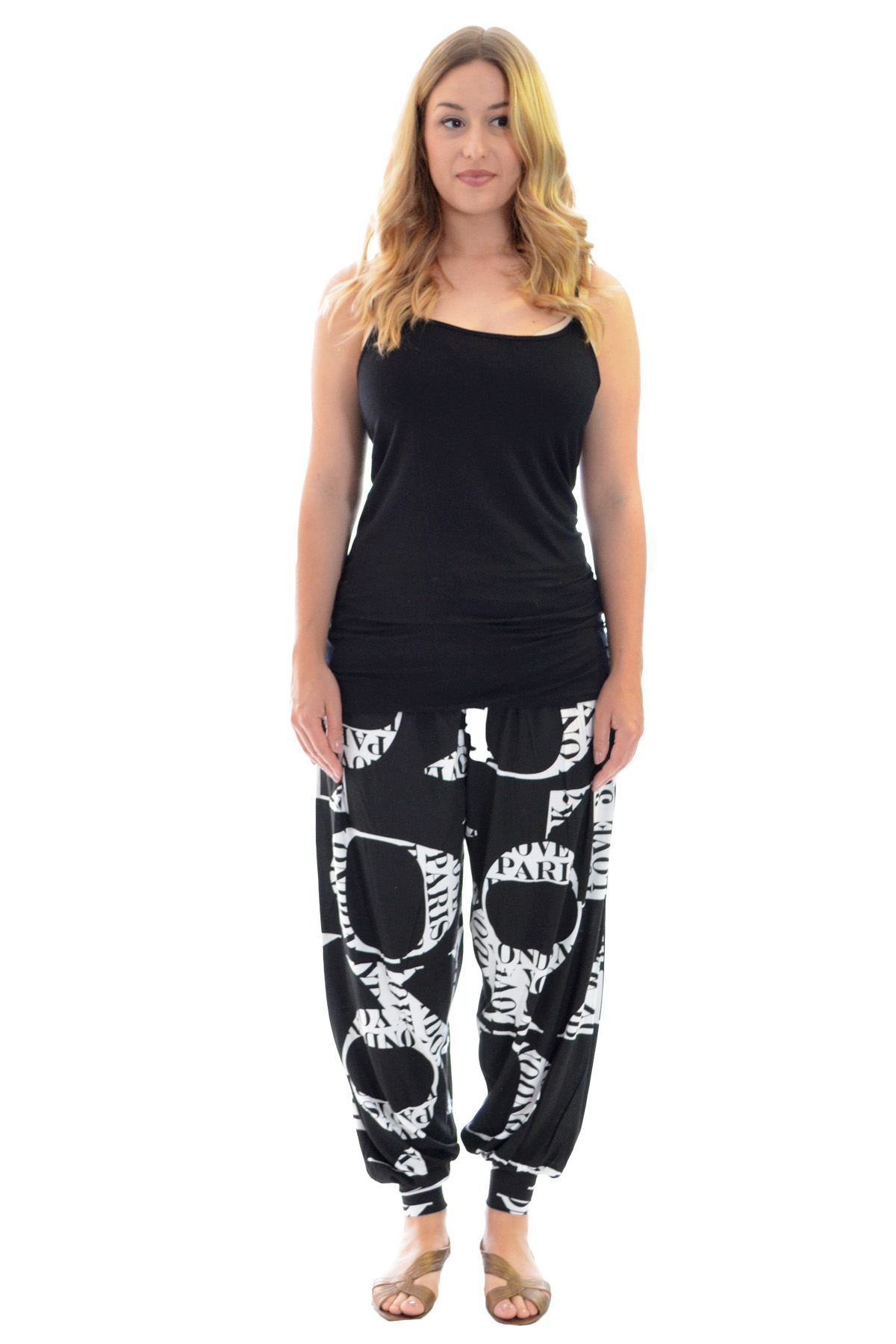 New Womens Harem Trouser Ladies Love Print Tattoo Ali Baba Plus Size Nouvelle