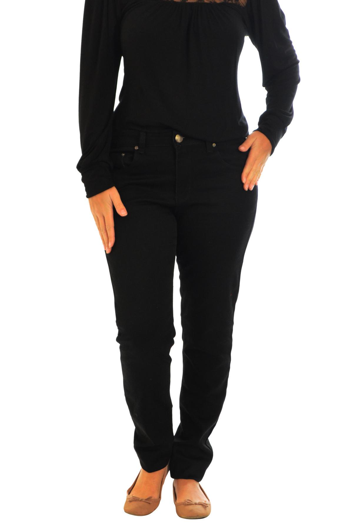 New Ladies Plus Size Jeans Womens Black Trousers Straight Leg Pockets Nouvelle | eBay