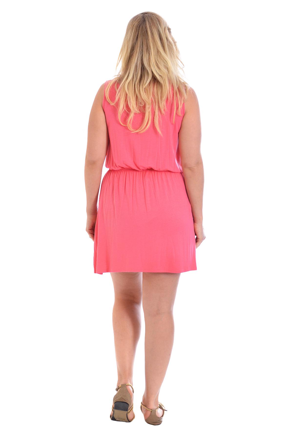 New Ladies Tunic Womens Lace Neck Skater Style Dress Floral Plus Size Nouvelle