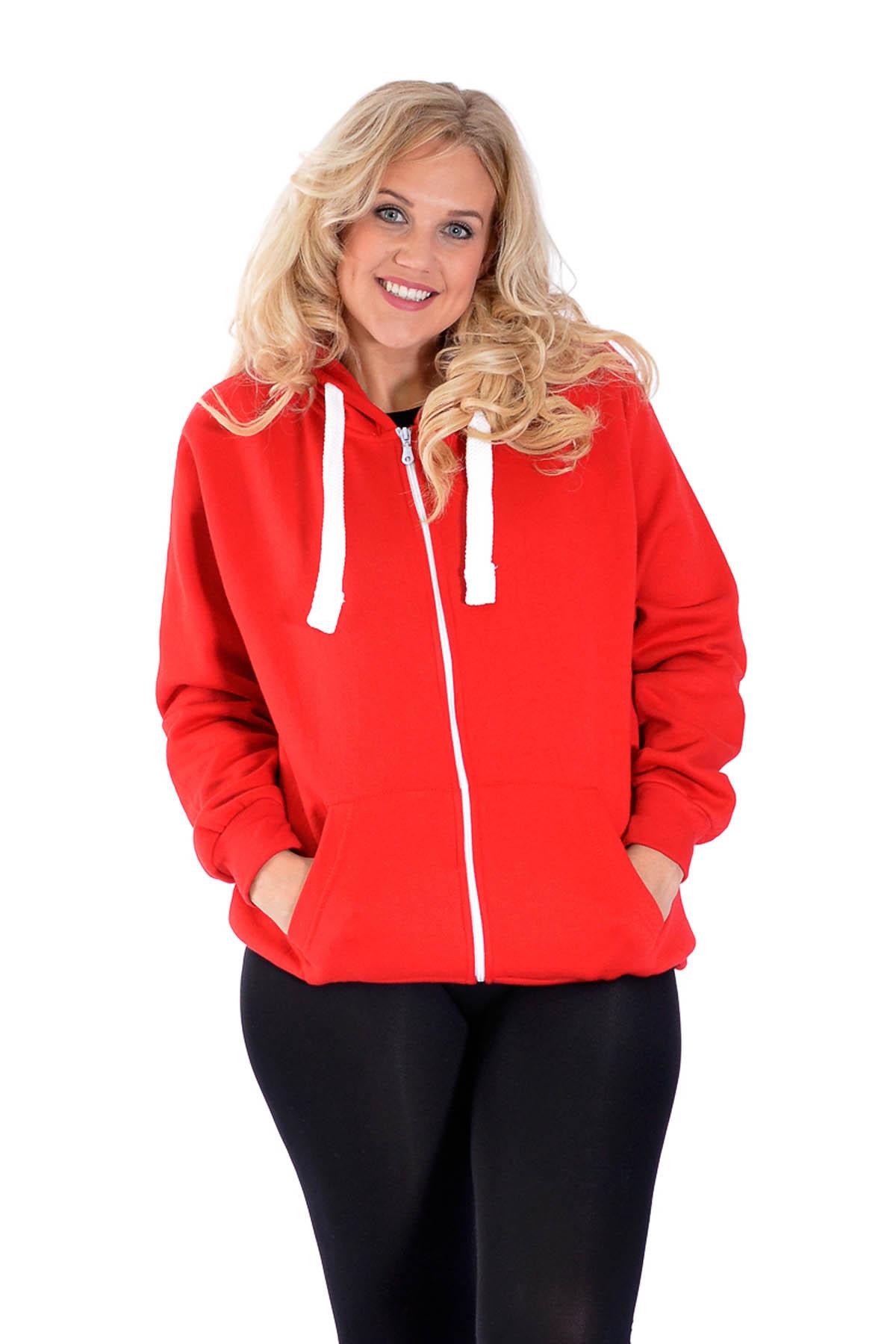 New Ladies Hoodie Womens Plus Size Studded Eagle Sweatshirt Warm ...