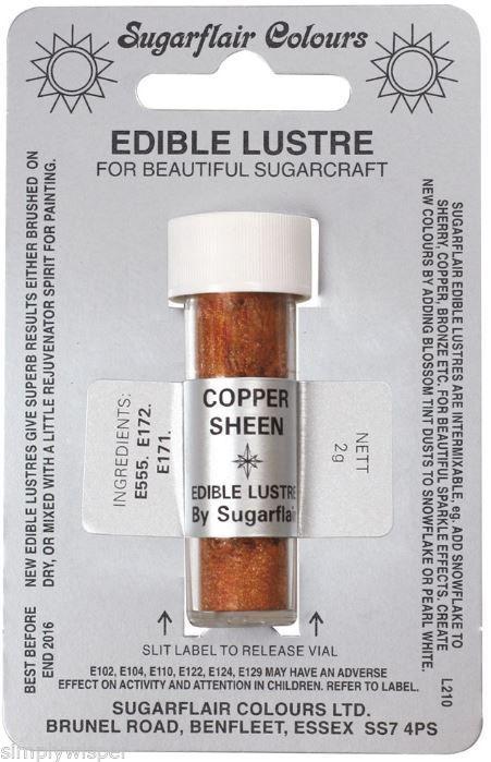 Kuchendekoration-Sugarflair-Glanz-Puder-Essbares-Torten-Pulver-Getoent
