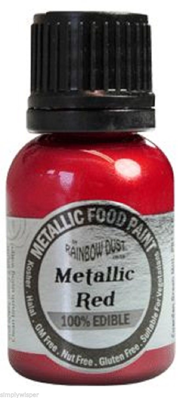 Rainbow-Dust-Metallischer-Perleffekt-Essbare-Lebensmittelfarbe-Kuchendekoration