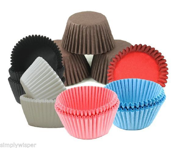 Plain Coloured Baking Cases 50pk Culpitt Cupcake Cake ...