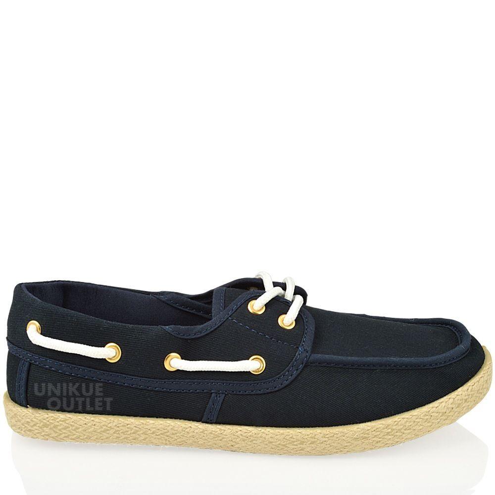 Ladies Canvas Deck Shoes