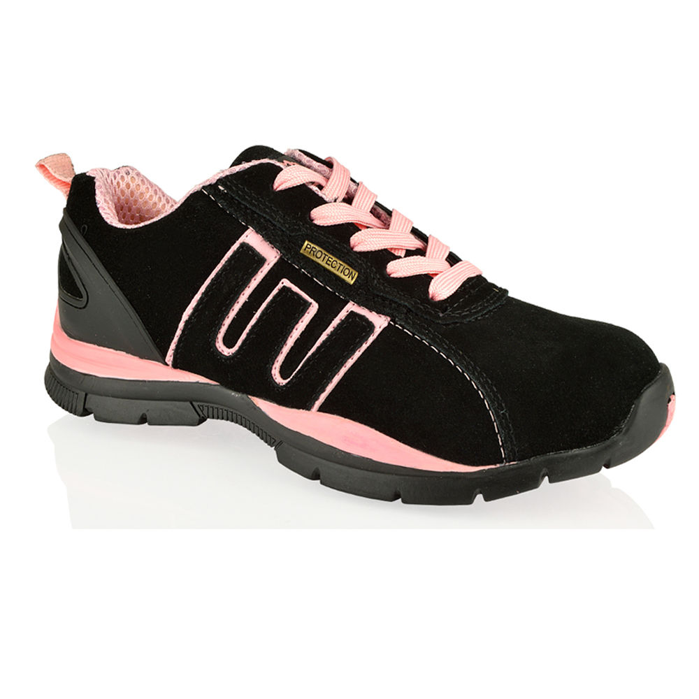 WOMENS-GROUNDWORK-SAFETY-STEEL-TOE-LIGHTWEIGHT-LACE-UP-TRAINERS-UK