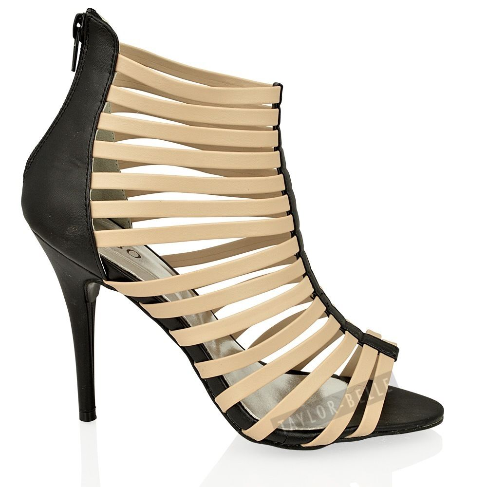 stiletto high heel gladiator strappy open toe