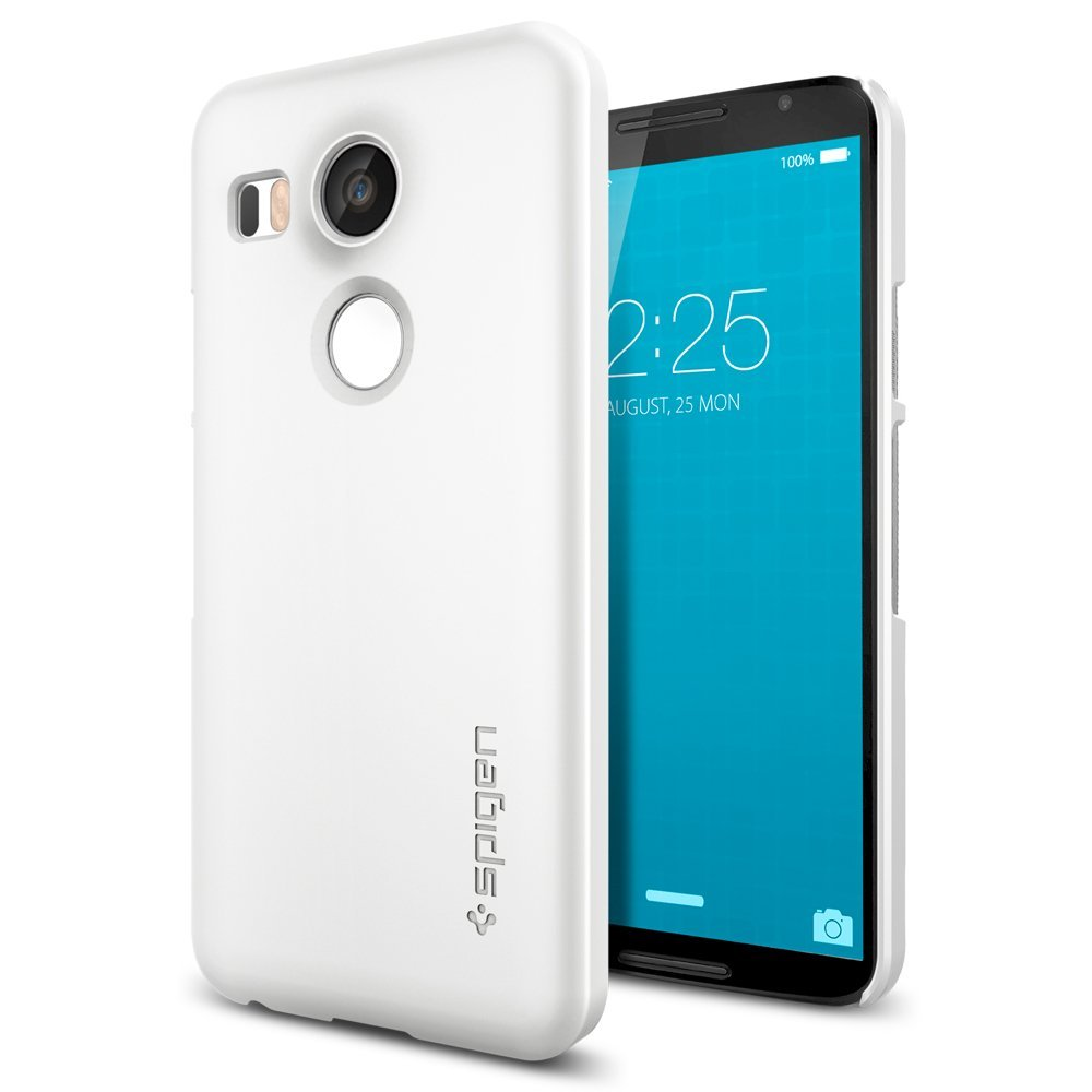 bit spigen thin fit nexus 5x shell case shimmery white 1 most