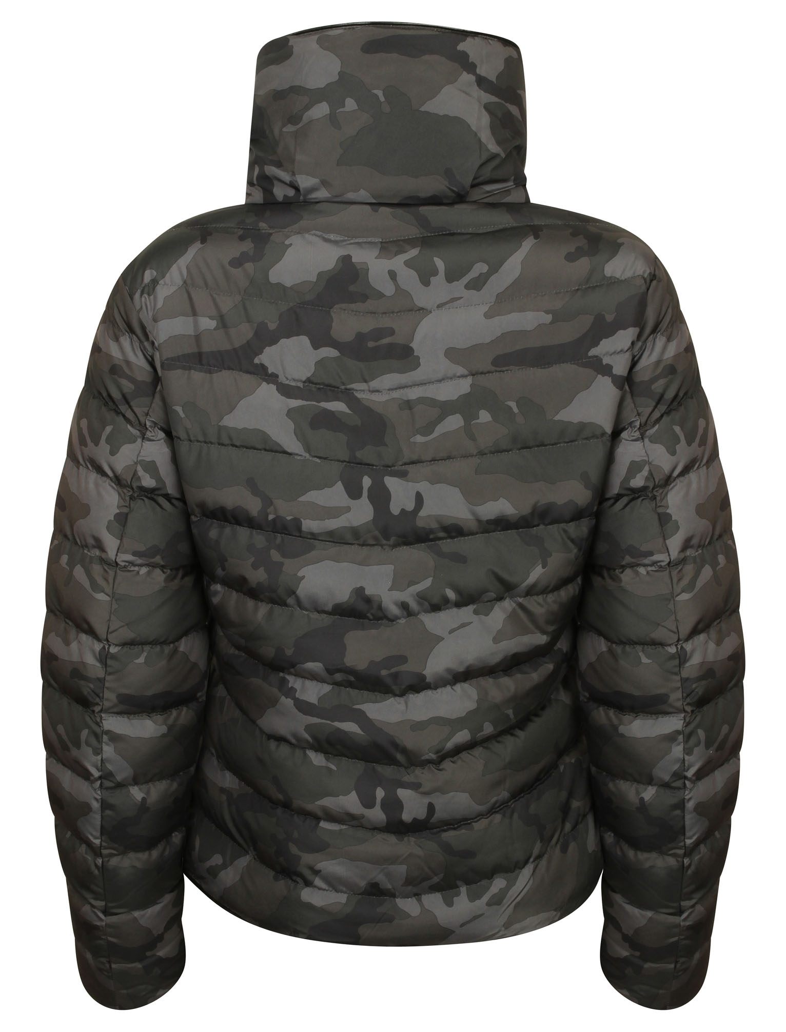New Womens Tokyo Laundry Ewok Funnel Neck Quilted Zip Up Jacket Size 8-16