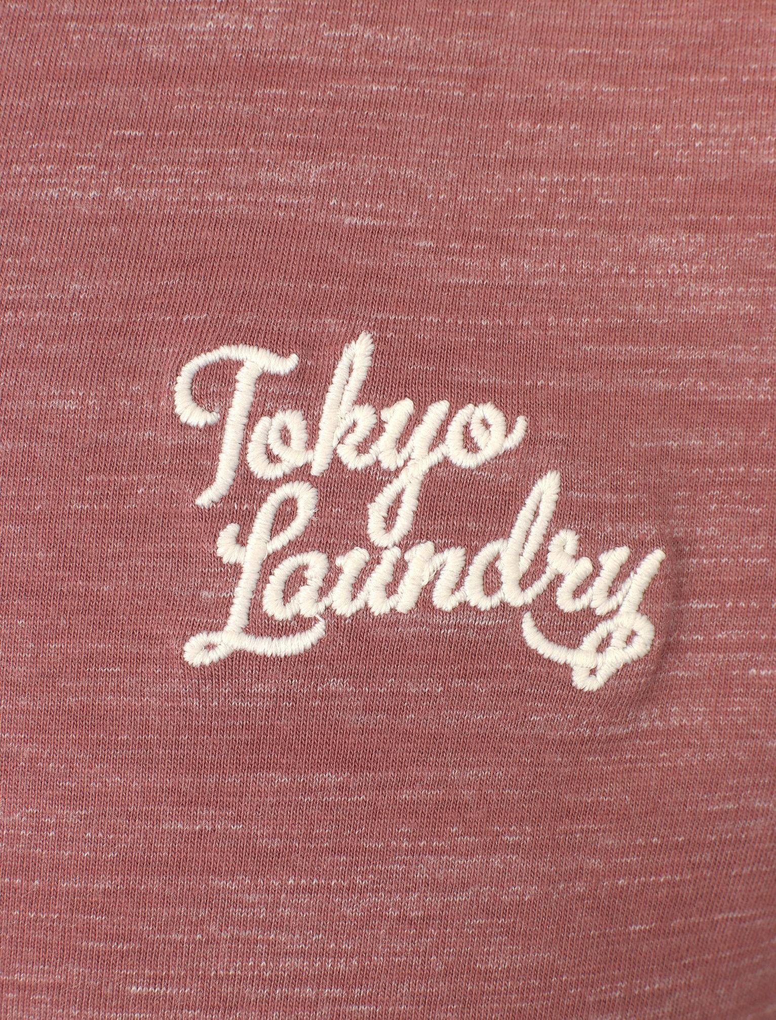 New Mens Tokyo Laundry Sun Lake Ribbed Crew Neck Cotton Blend T-Shirt Size S-XXL