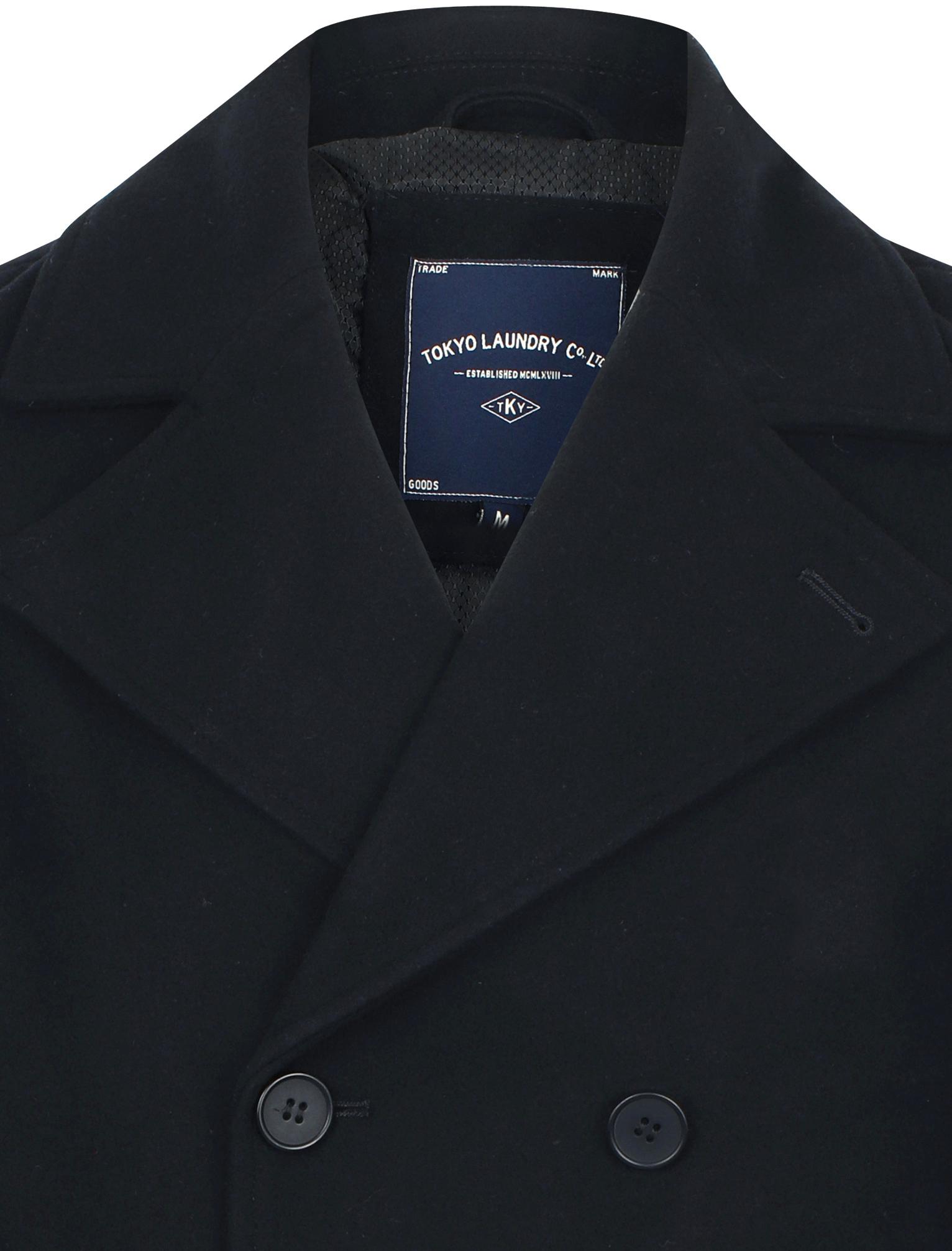 Nouveau Homme Tokyo Laundry de marque en laine mélangée Vareuse duffle-coat Taille S-XXL