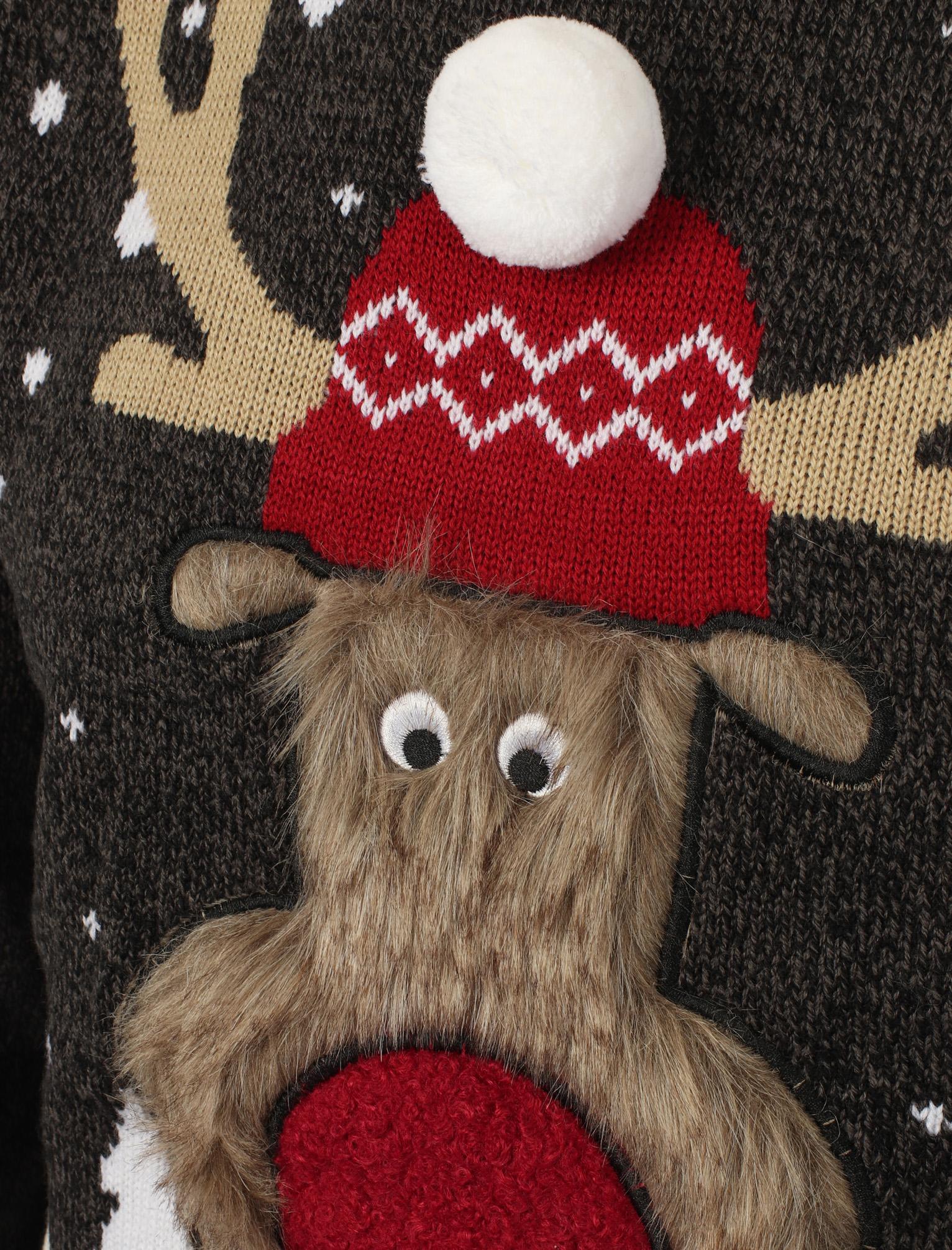Season/'s Greetings Men/'s Rudolph Novelty 3D Christmas Xmas Jumper Sweater