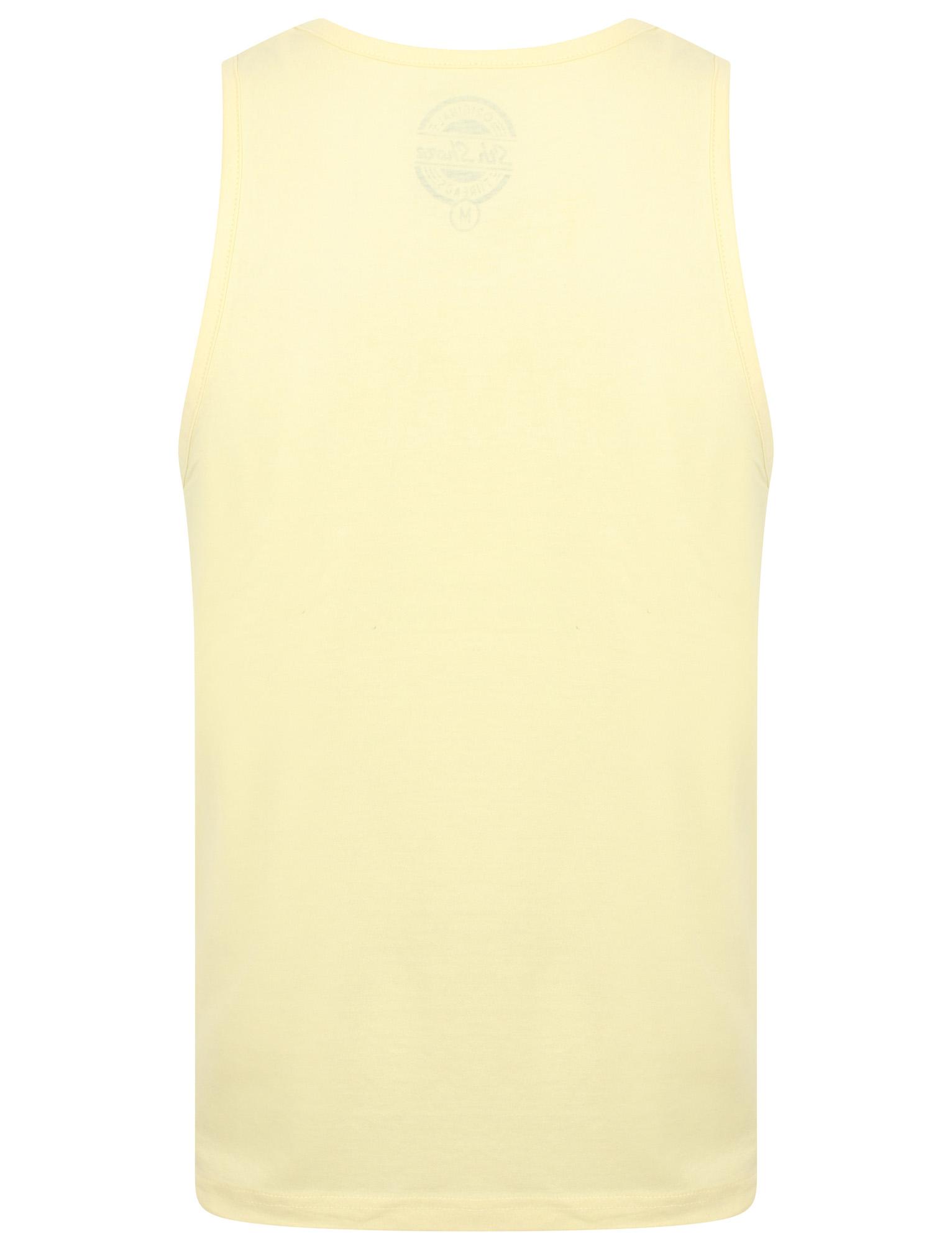 New Mens South Shore Just Escaping Cotton Rich Graphic Print Vest Top Size S-XXL
