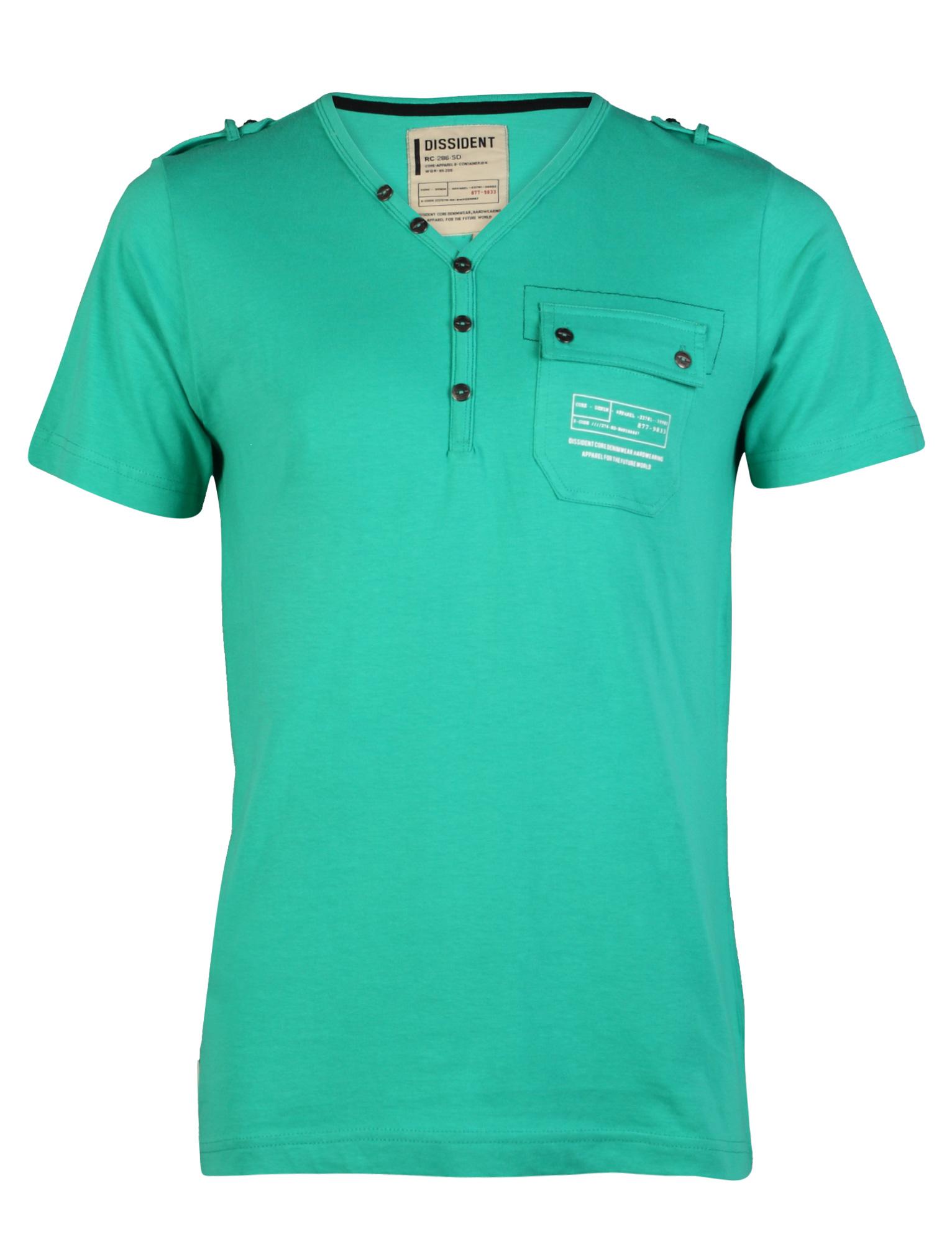 New mens dissident fender henley t shirt chest pocket for Mens xl tall henley shirts