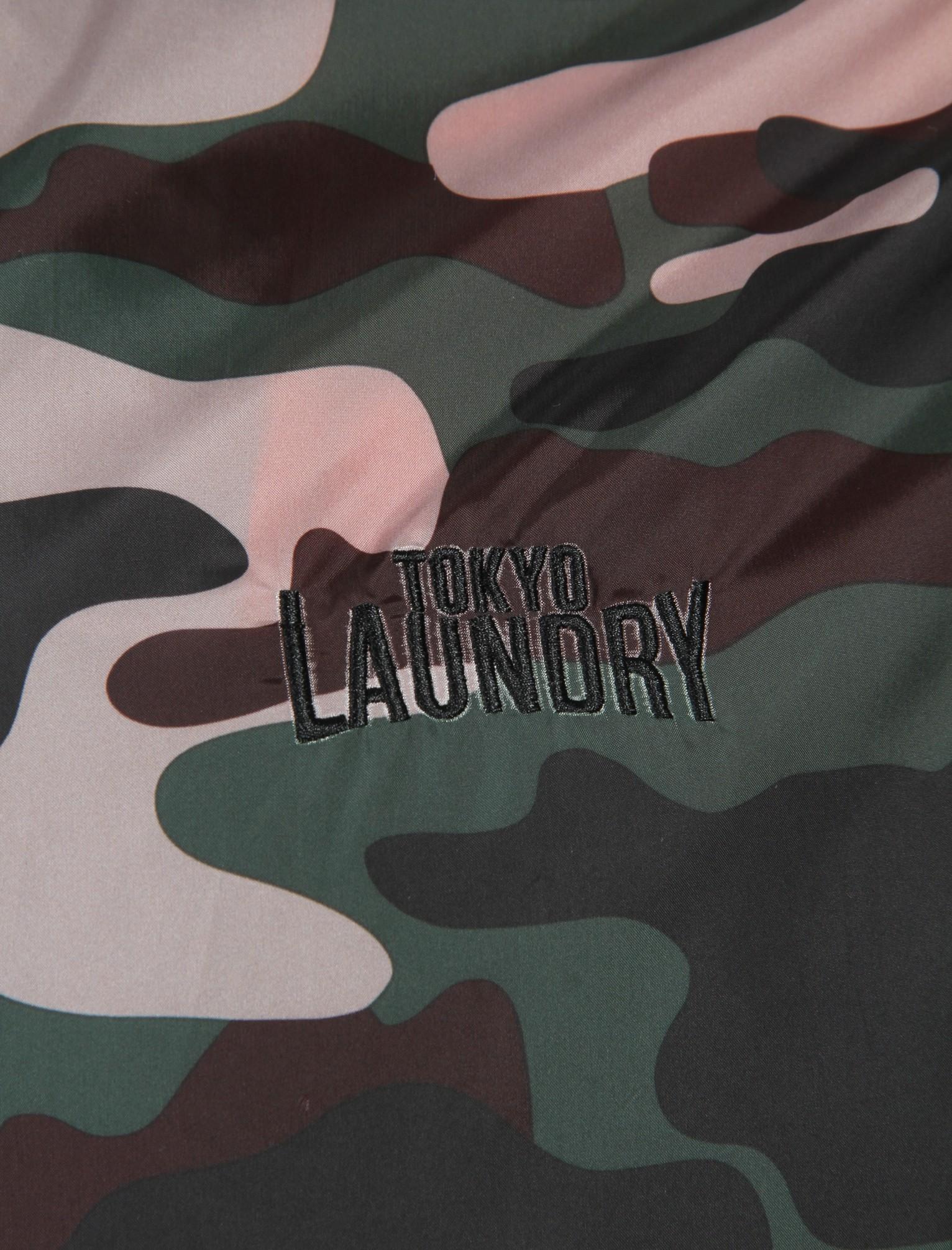 POLO da Uomo Tokyo Laundry Dagenham Mimetica Giacca a vento Giacca con cappuccio Taglia S-XXL