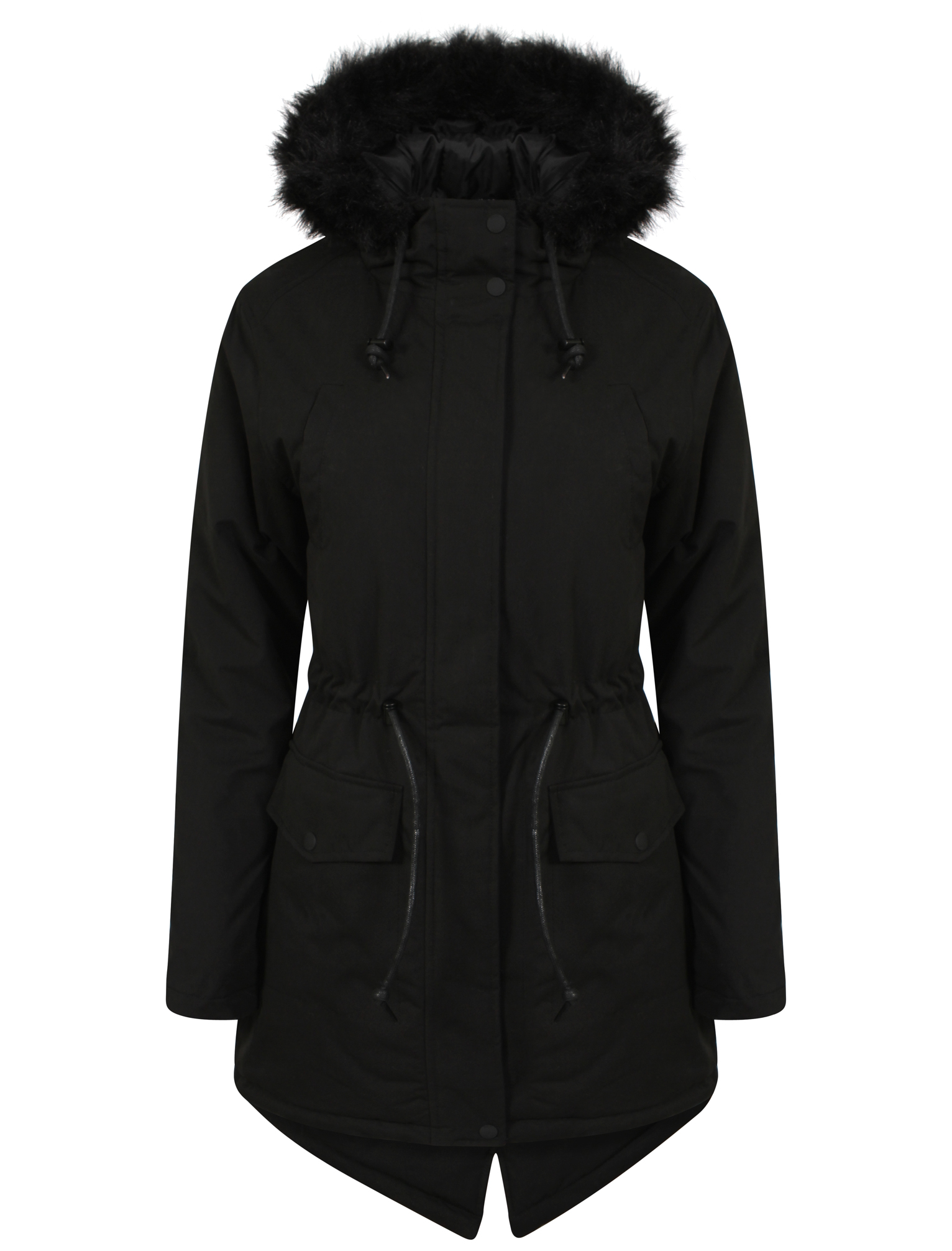 Womens Tokyo Laundry Dinah Faux Fur Hooded Ladies Parka Jacket ...