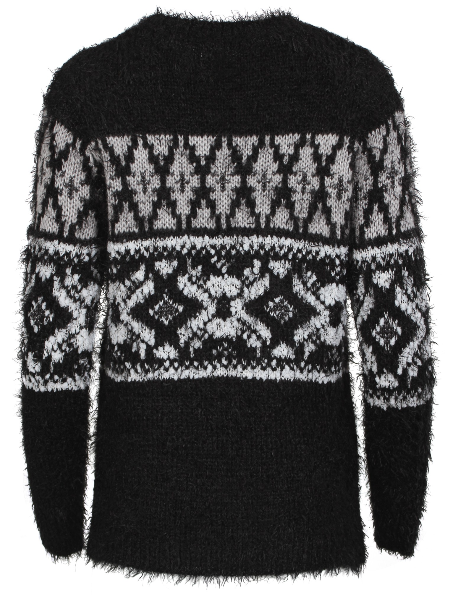 Womens Amara Reya Popsi Fairisle Knitted Ladies Jumper Long Sleeve Top Size 8-16