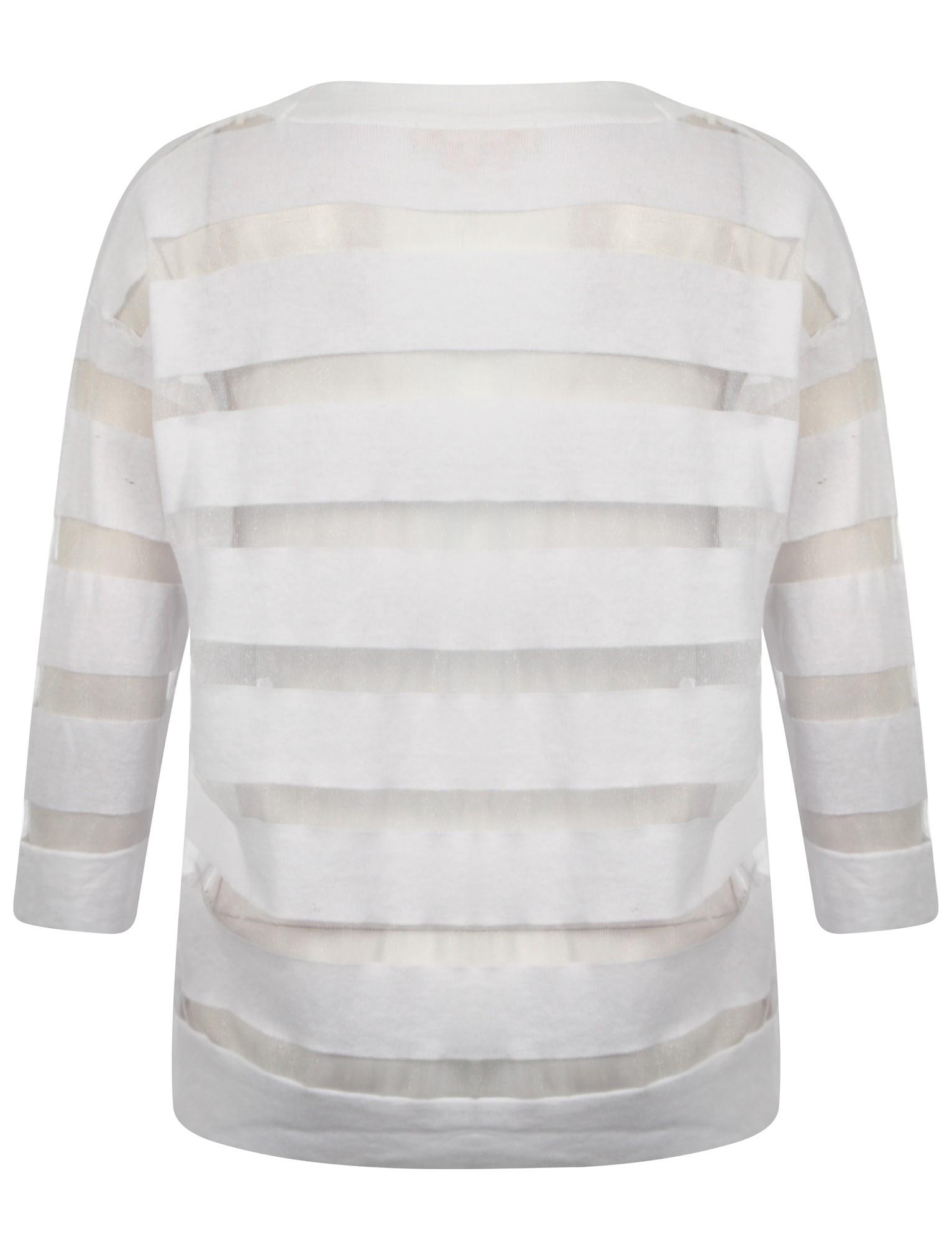 Womens Plum Tree Taylor Ladies Sheer Mesh Striped 3//4 Sleeve Cardigan Size 10-18