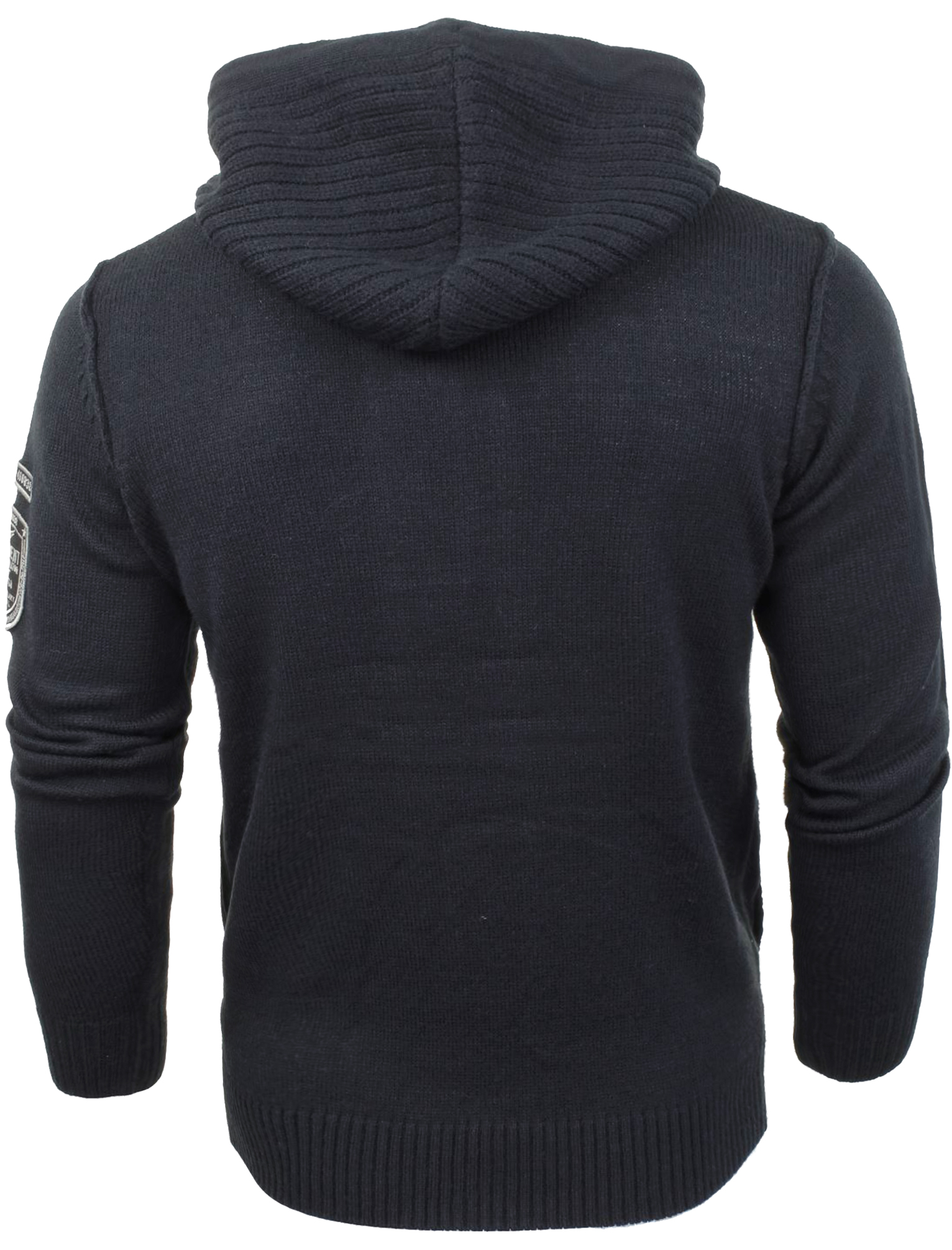 Mens Dissident Cruise Zip Up Hooded Sweater Hoodie Knitted ...