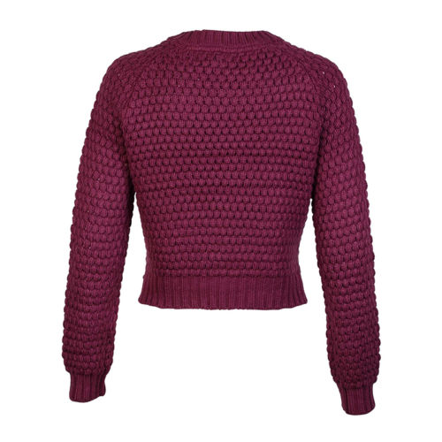 New Womens Amara Reya Cornflower Ladies Knitted Cropped Jumper Top Size 8-16