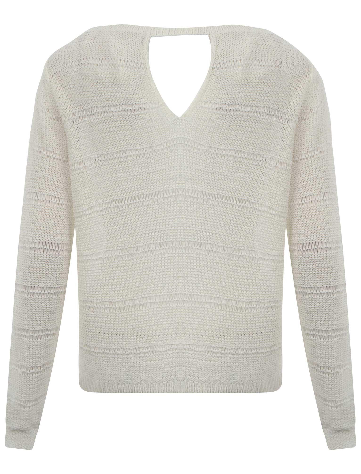 Da Donna Amara Reya Donna BUCO DELLA SERRATURA con trama in maglia a manica lunga maglione Top Taglia 8-16