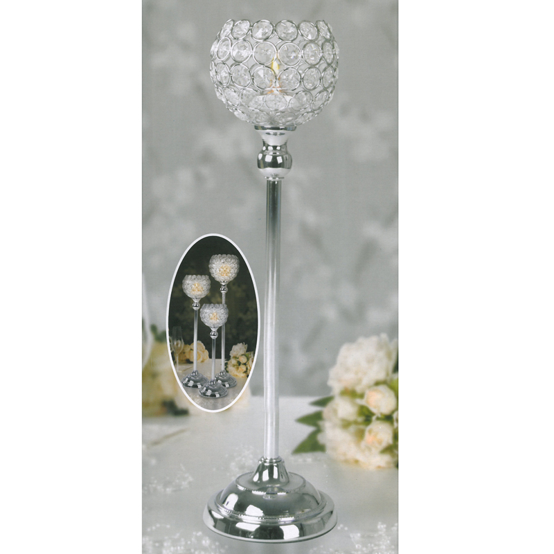 Crystal clear votive tealight candle holder cm stick