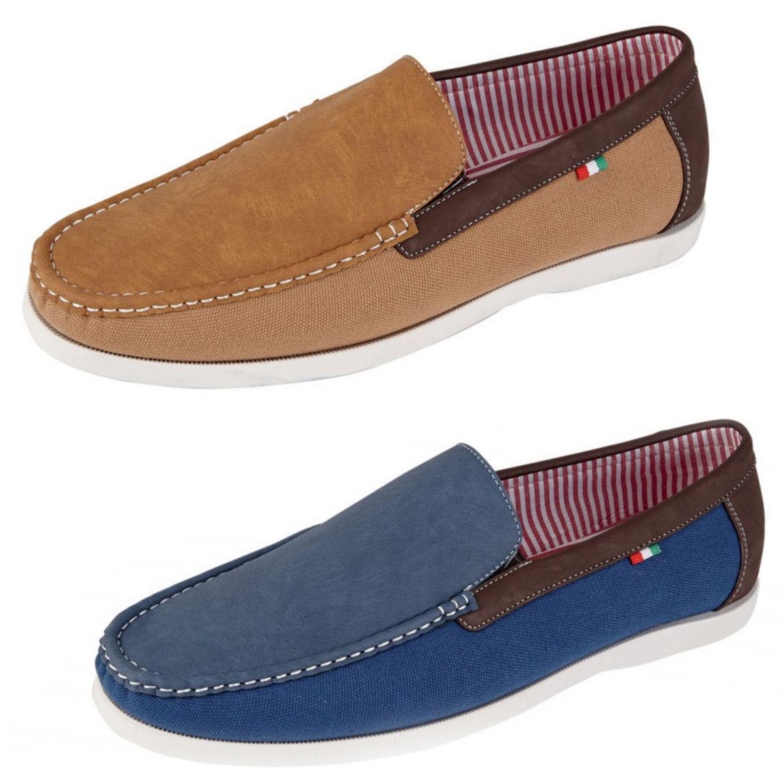 duke d555 claude mens slip on shoes king size boat