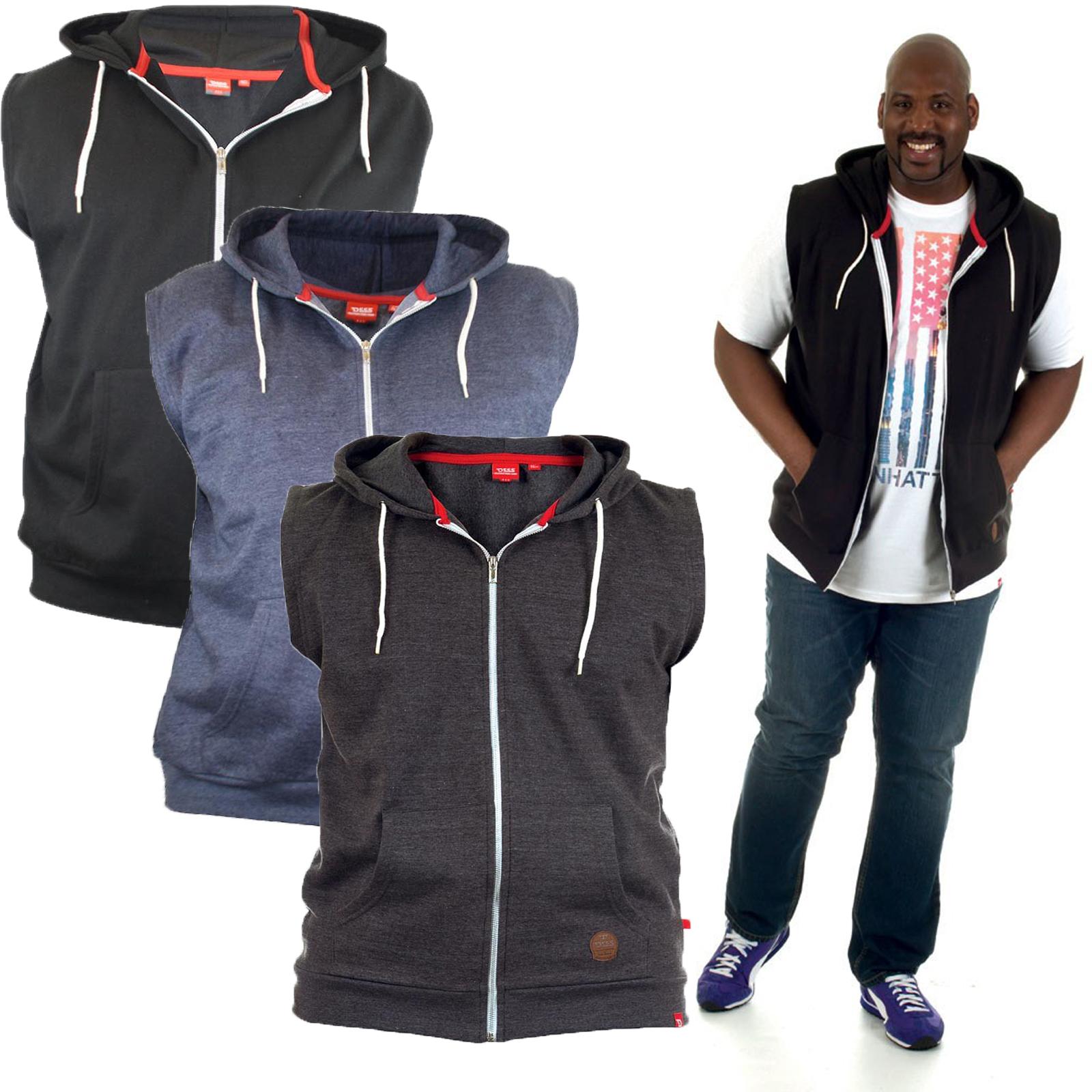 duke d555 big king size mens hoodie casual sleeveless