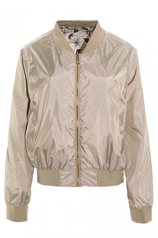 Brave Soul Ladies Golda Reversible Bomber Jacket MA1 Floral Or Plain Print Coat