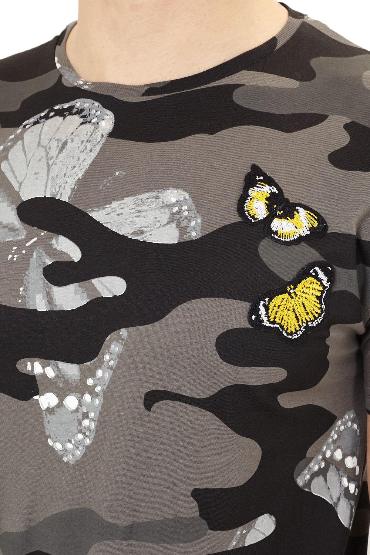 Brave Soul da Uomo Canopus Camo Print T Shirt Casual Cotone Girocollo Tee di marca