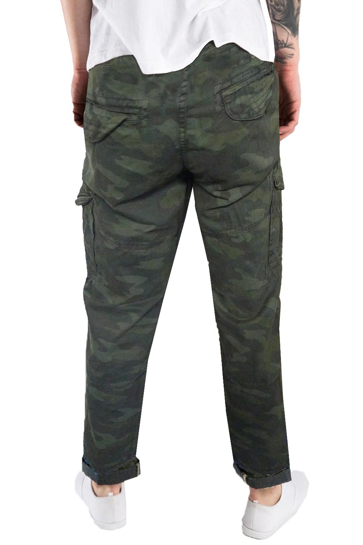 Threadbare Hitch Mens Designer Combat Trousers New Camo
