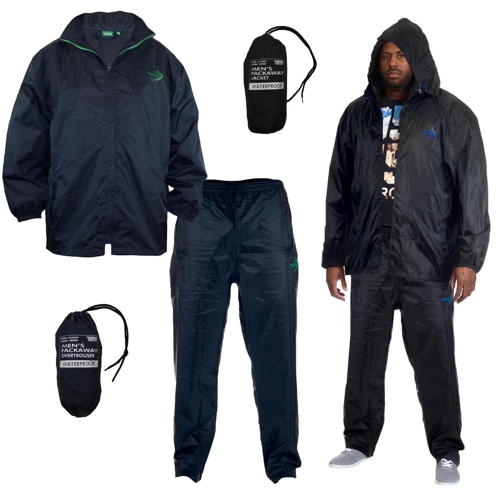 big king size mens waterproof packaway jacket
