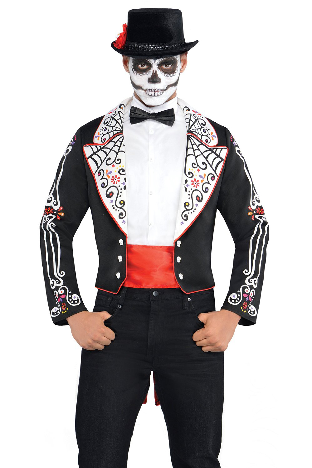 christys dress up mens day of the dead tailcoat halloween