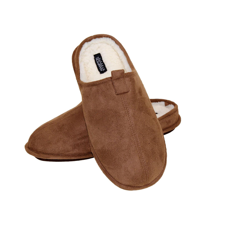 Hampton Mens Luxury Woolen Inner Maximum Comfort Cosy Mule Slip On Slippers