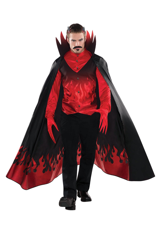 New Evil Diablo Mens Horror Full Outfit Halloween Party Fancy ...