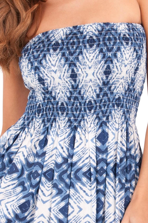 Pistachio Womens Blue /& White Bandeau Maxi New Ladies Paisley Full Length Dress