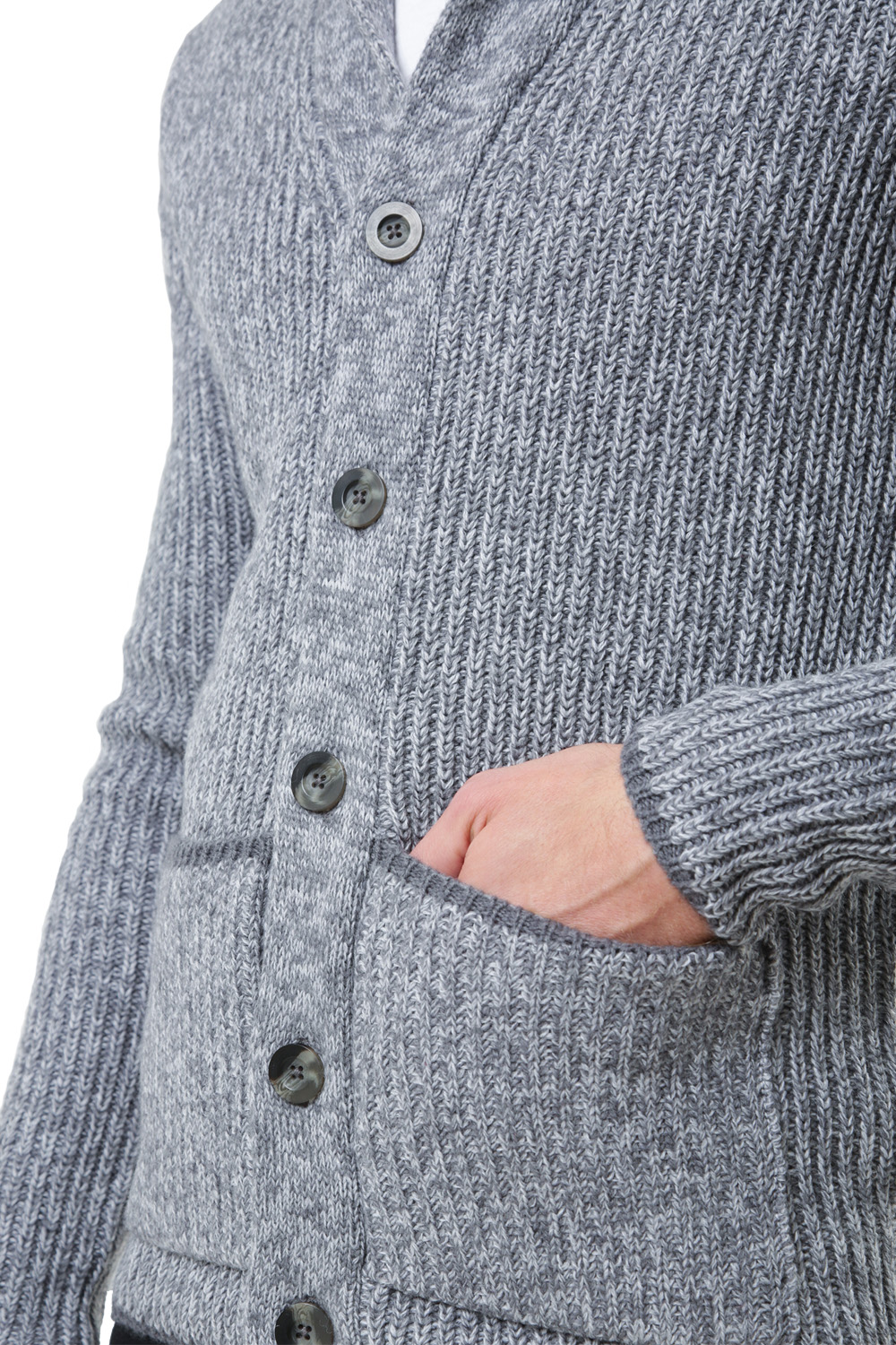 Threadbare Mens Pumpkin Buttoned Cardigan Shawl Neck Cable Knit Winter Jumper