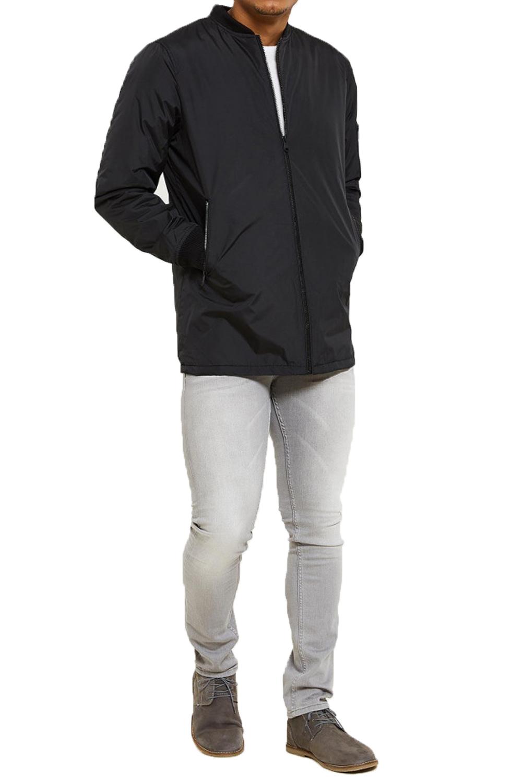 Threadbare Mens Lynx Jacket New Designer Longline Zip Up