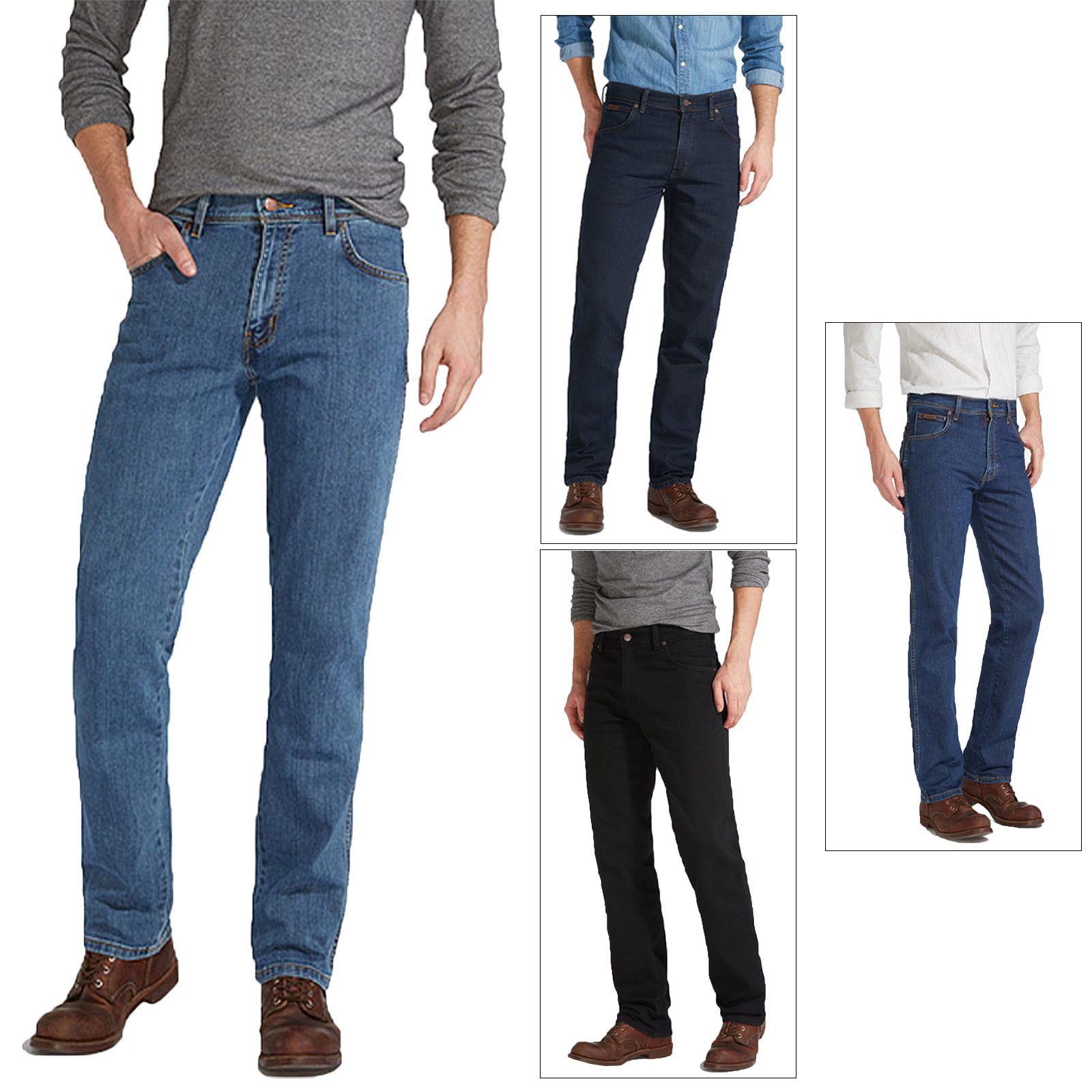 Wrangler Mens Texas Iconic New Designer Stretch Fit Jeans Original Western Pants Ebay