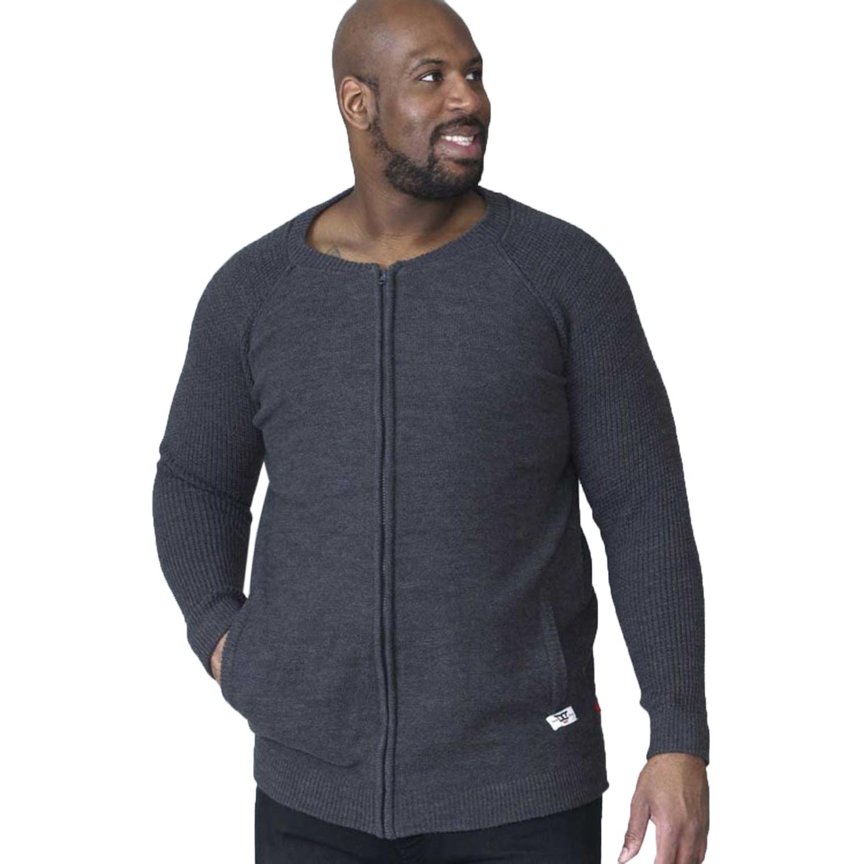 Duke D555 Big Tall King Size Mens Xavier Designer Comfy Zip Up Knitted Cardigan