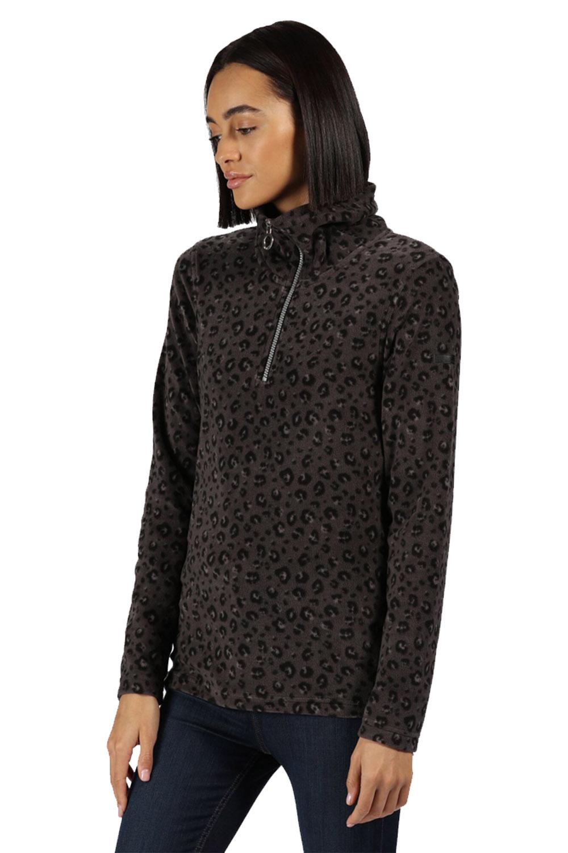 Regatta Leela Womens Soft High Neck Half Zip Casual Fleece Pull Over Jacket
