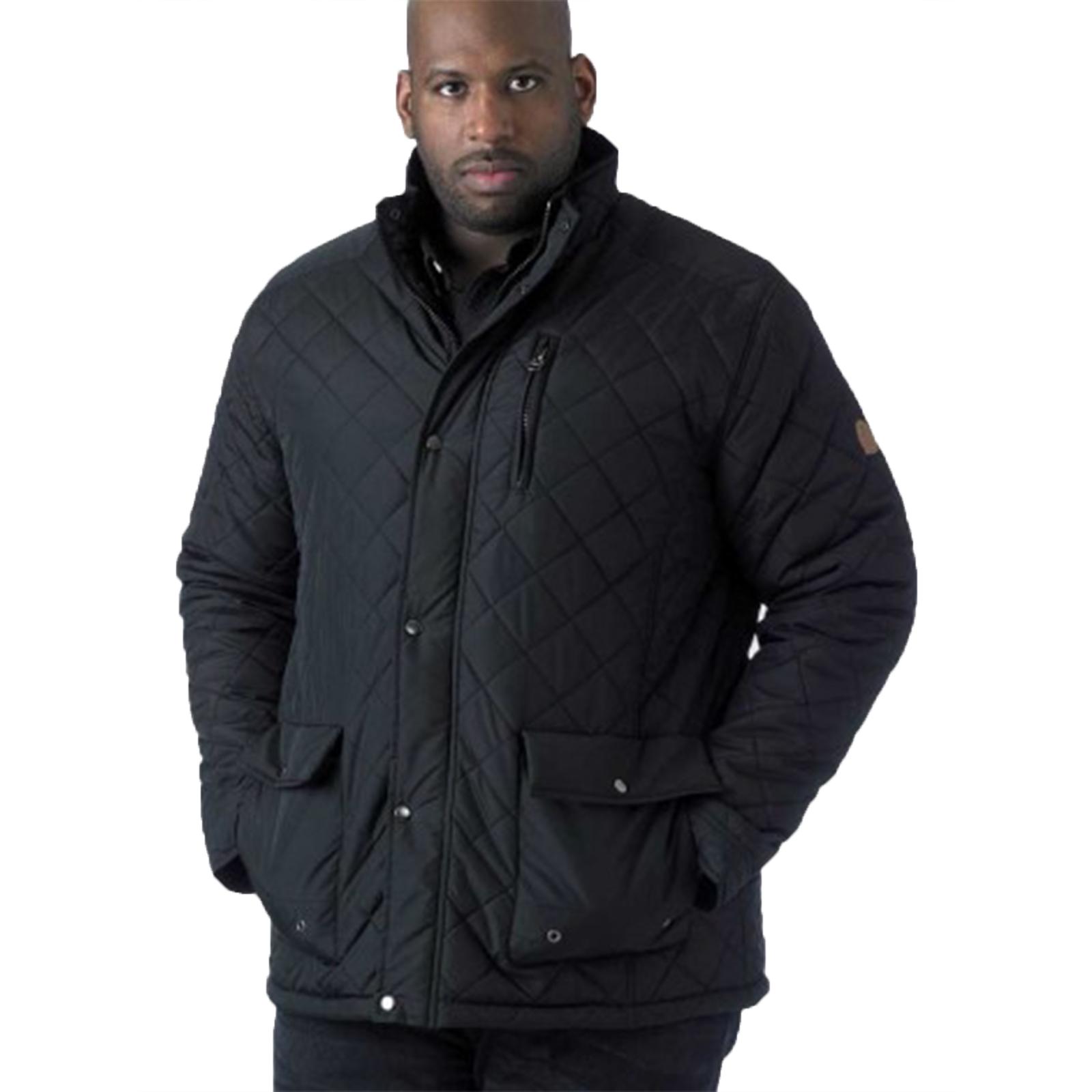 Duke D555 Big Tall King Taille Homme Designer Pollard Matelassé Chaud Veste D/'Hiver