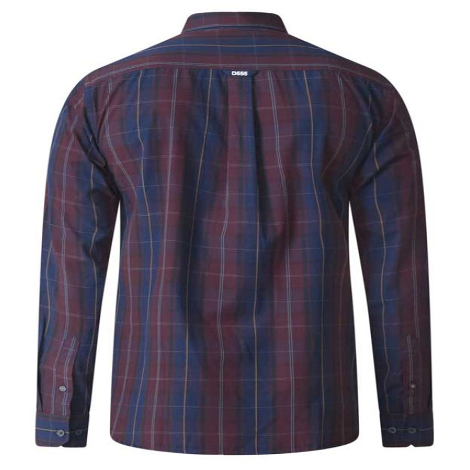 DUKE D555 Da Uomo King Size Check camicia Big Tall button down con Colletto Cotone Top
