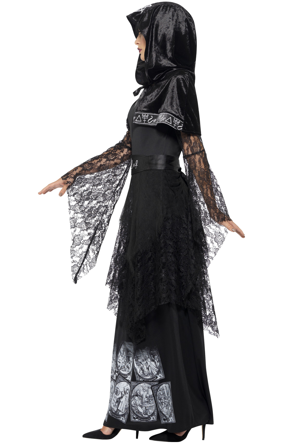 Smiffy/'s Ladies Black Magic Mistress Cult Witch Halloween Fancy Dress Costume