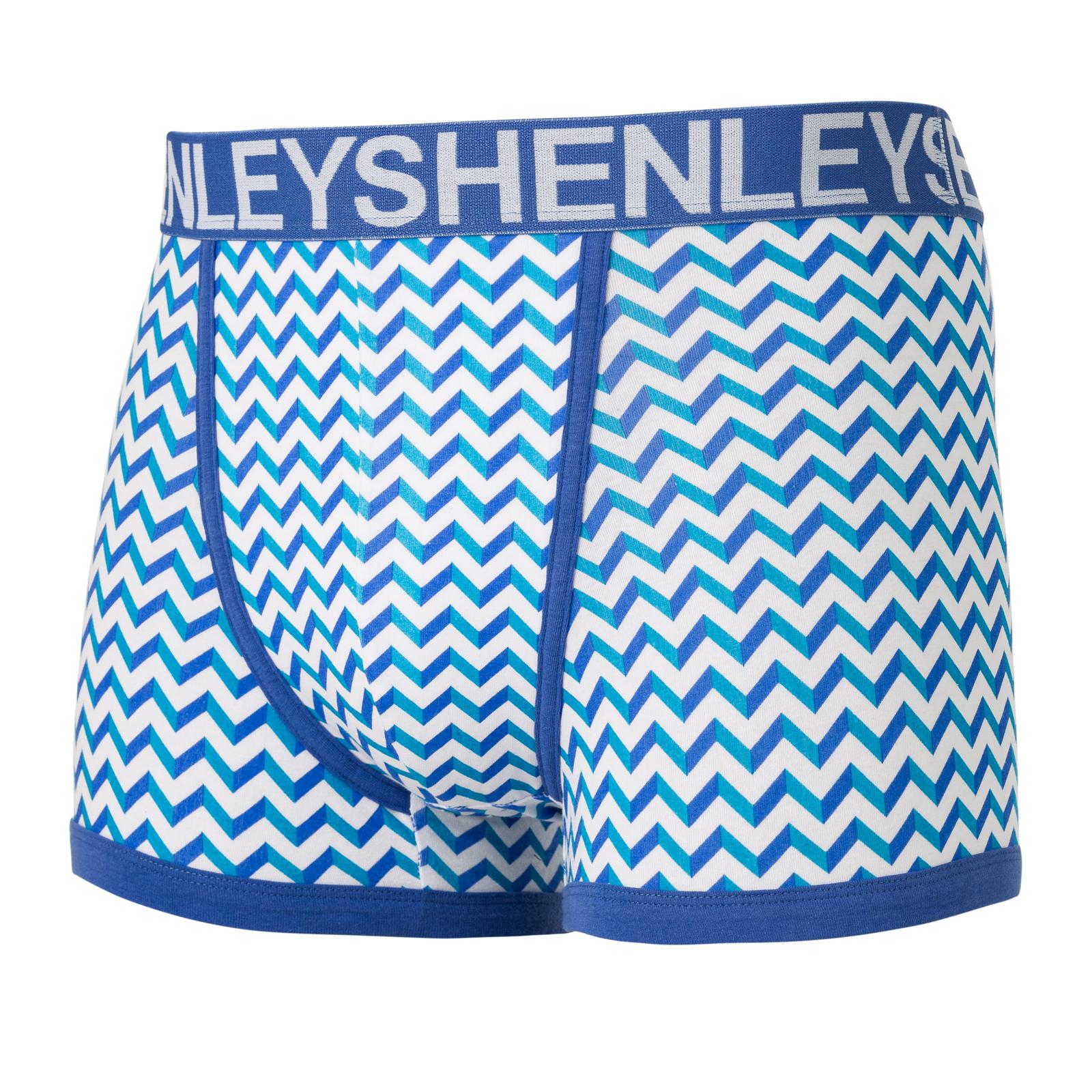 Henleys Mens Designer 3 Pack Boxer Shorts Stretch Jersey Boxed Underwear Trunks