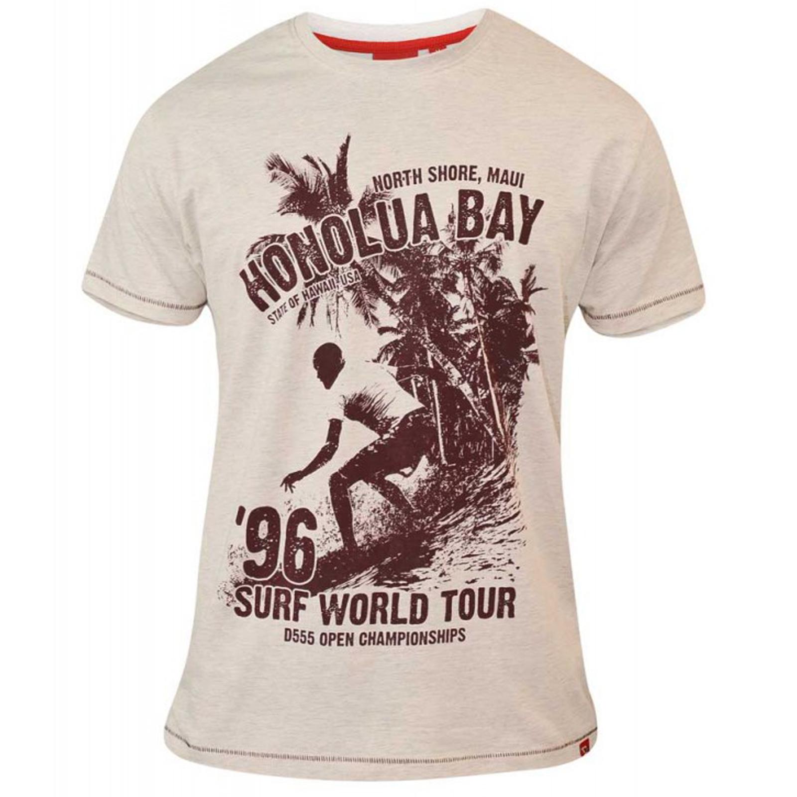 Duke D555 Mens Big Tall King Size Cortez Clayton Top Hawaii Graphic Print Tshirt