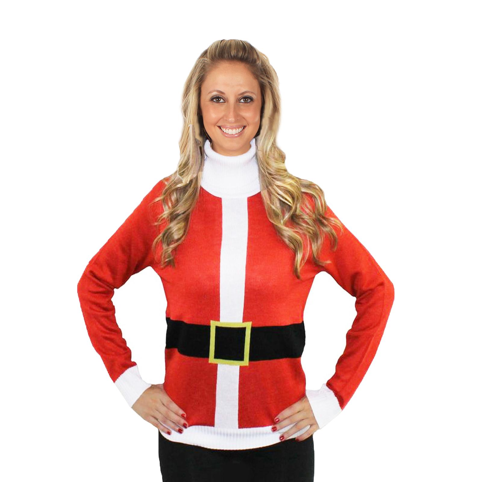 Christmas jumper tipsy elves santa claus sweater knitted xmas ebay