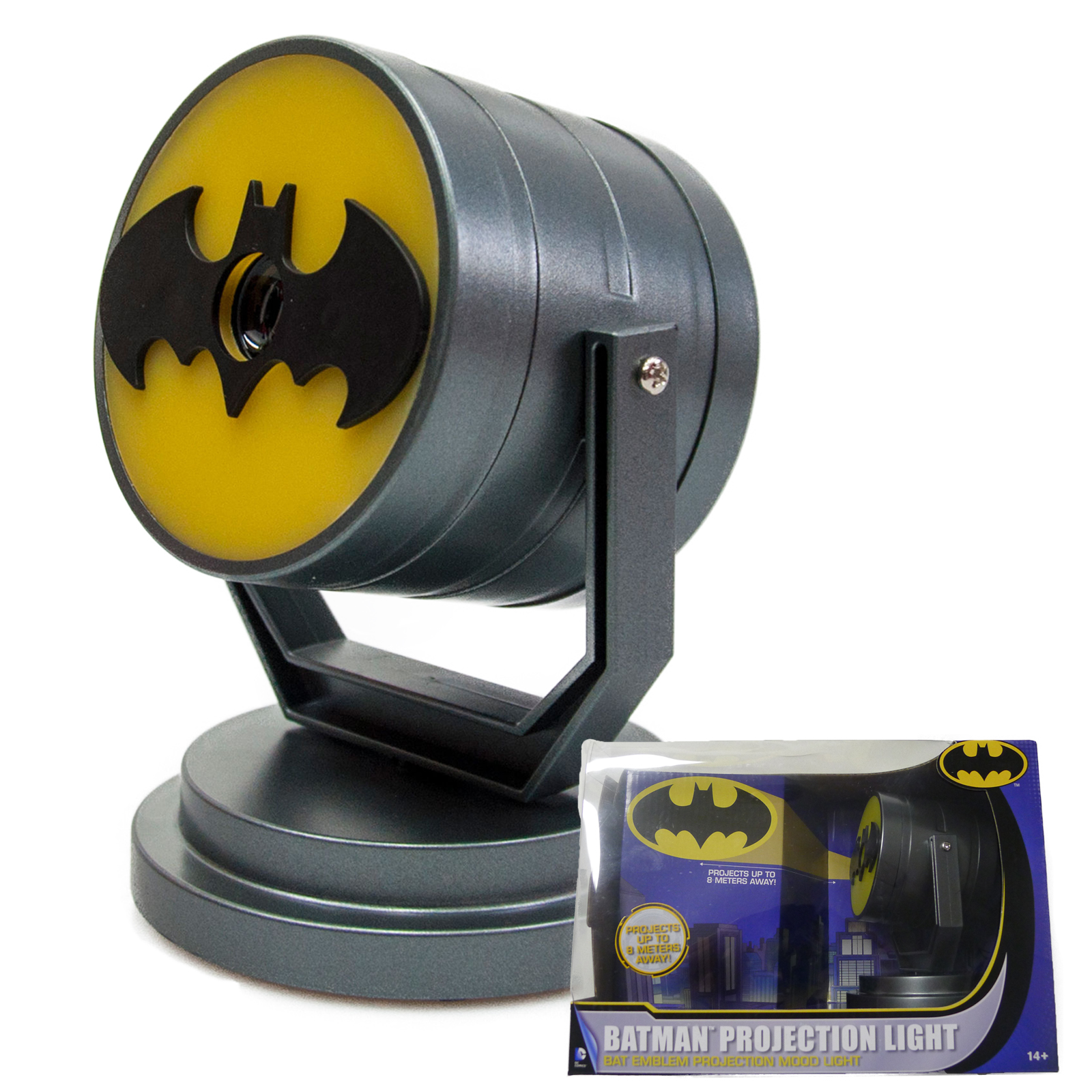 Dc comics batman official bat signal emblem projector desk mood night light ebay - Batman projector night light ...